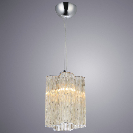 Подвесной светильник Arte Lamp Diletto A8561SP-1CG, 1xE14x40W, хром, коньячный, металл, стекло