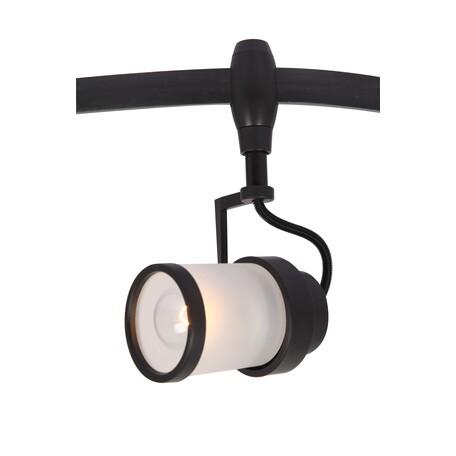 Светильник для гибкой системы Arte Lamp Instyle Rails Heads A3056PL-1BK, 1xE14x40W, черный, черно-белый, металл, металл со стеклом