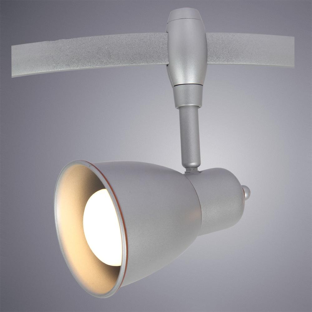 Светильник с регулировкой направления света для гибкой системы Arte Lamp Instyle Rails Heads A3058PL-1SI, 1xE14x40W, серебро, металл - фото 1