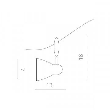 Схема с размерами Arte Lamp Instyle A3058PL-1SI