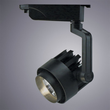 Светодиодный светильник с регулировкой направления света для шинной системы Arte Lamp Instyle Vigile A1620PL-1BK, LED 20W 4000K 1600lm CRI≥80, черный, металл