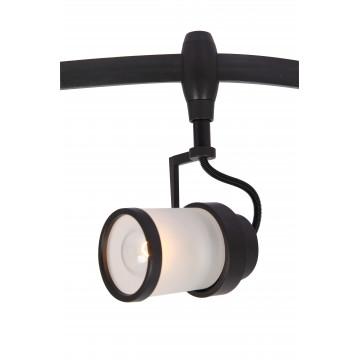 Светильник для гибкой системы Arte Lamp Instyle Rails Heads A3056PL-1BK, 1xE14x40W, черный, белый, металл, стекло