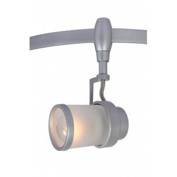 Светильник для гибкой системы Arte Lamp Instyle Rails Heads A3056PL-1SI, 1xE14x40W, серебро, белый, металл, стекло
