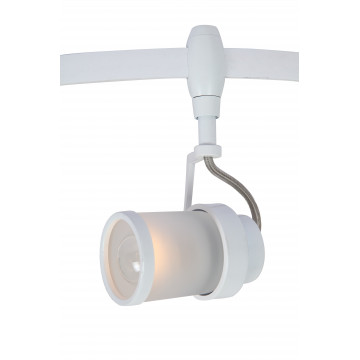 Светильник с регулировкой направления света для гибкой системы Arte Lamp Instyle Rails Heads A3056PL-1WH, 1xE14x40W, белый, металл, металл со стеклом