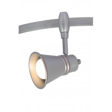 Светильник с регулировкой направления света для гибкой системы Arte Lamp Instyle Rails Heads A3057PL-1SI, 1xE14x40W, серебро, металл