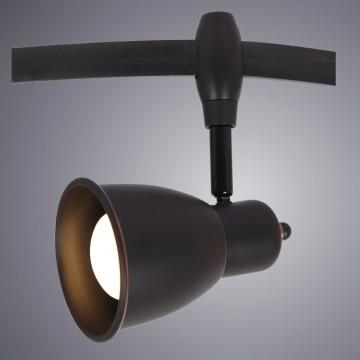 Светильник с регулировкой направления света для гибкой системы Arte Lamp Instyle Rails Heads A3058PL-1BK, 1xE14x40W, черный, металл