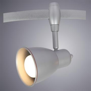 Светильник с регулировкой направления света для гибкой системы Arte Lamp Instyle Rails Heads A3058PL-1SI, 1xE14x40W, серебро, металл