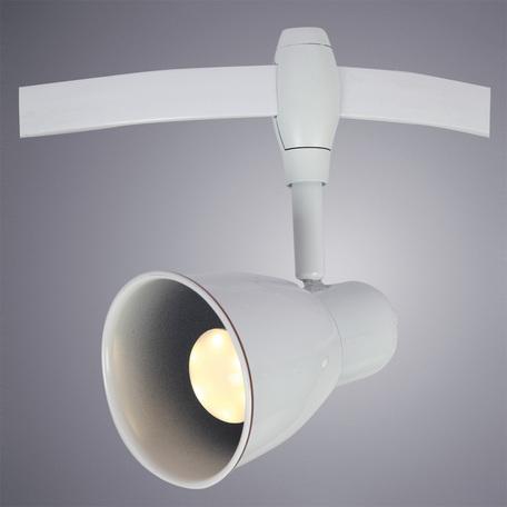 Светильник с регулировкой направления света для гибкой системы Arte Lamp Instyle Rails Heads A3058PL-1WH, 1xE14x40W, белый, металл