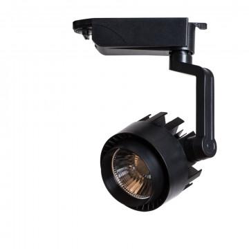 Светодиодный светильник с регулировкой направления света для шинной системы Arte Lamp Instyle Vigile A1610PL-1BK, LED 10W 4000K 800lm CRI≥80, черный, металл