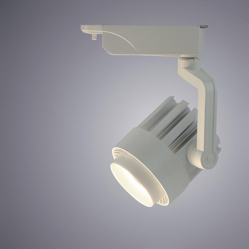Светодиодный светильник с регулировкой направления света для шинной системы Arte Lamp Instyle Vigile A1630PL-1WH, LED 30W 4000K 2400lm CRI≥80, белый, металл - фото 1
