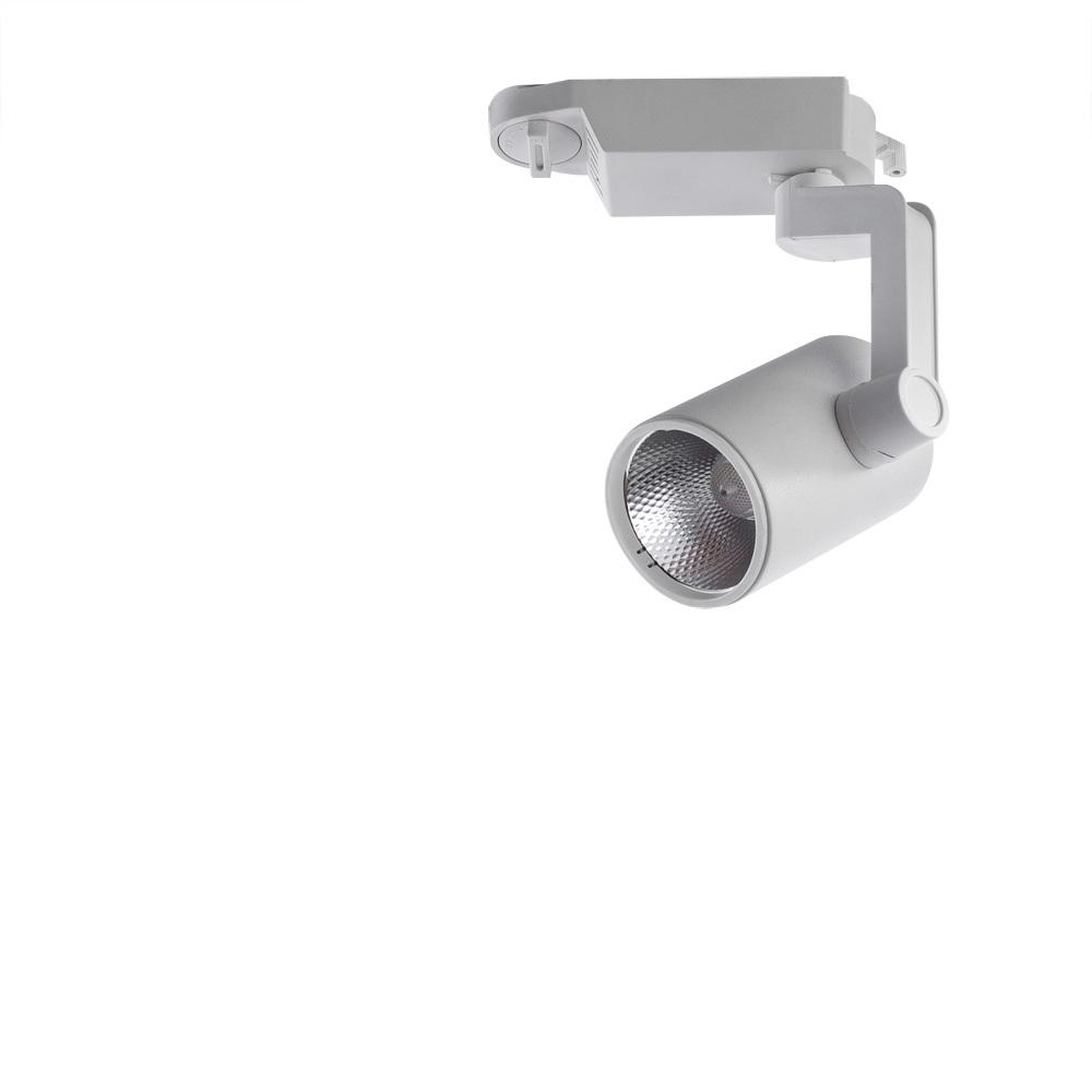 Светодиодный светильник с регулировкой направления света для шинной системы Arte Lamp Instyle Traccia A2310PL-1WH, LED 10W 4000K 800lm CRI≥80, белый, металл - фото 1