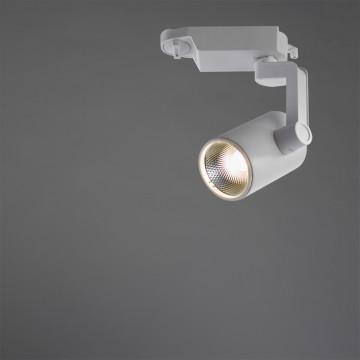 Светодиодный светильник с регулировкой направления света для шинной системы Arte Lamp Instyle Traccia A2310PL-1WH, LED 10W 4000K 800lm CRI≥80, белый, металл - миниатюра 2