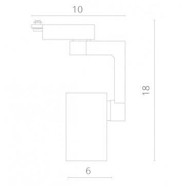 Схема с размерами Arte Lamp Instyle A2310PL-1WH