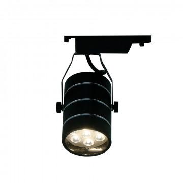 Светодиодный светильник с регулировкой направления света для шинной системы Arte Lamp Instyle Cinto A2707PL-1BK, LED 7W 4000K 490lm CRI≥70, черный, металл