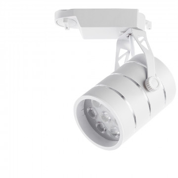 Светодиодный светильник с регулировкой направления света для шинной системы Arte Lamp Instyle Cinto A2707PL-1WH, LED 7W 4000K 490lm CRI≥70, белый, металл