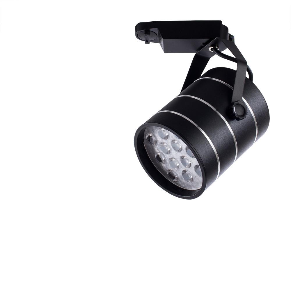 Светодиодный светильник с регулировкой направления света для шинной системы Arte Lamp Instyle Cinto A2712PL-1BK, LED 12W 4000K 840lm CRI≥70, черный, металл - фото 1