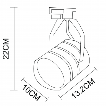 Схема с размерами Arte Lamp Instyle A2712PL-1BK