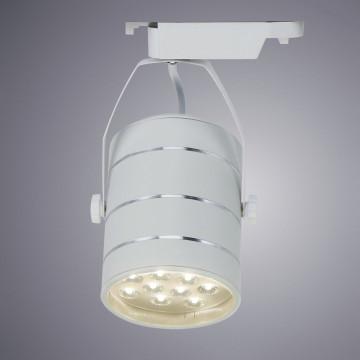 Светодиодный светильник с регулировкой направления света для шинной системы Arte Lamp Instyle Cinto A2712PL-1WH, LED 12W 4000K 840lm CRI≥70, белый, металл