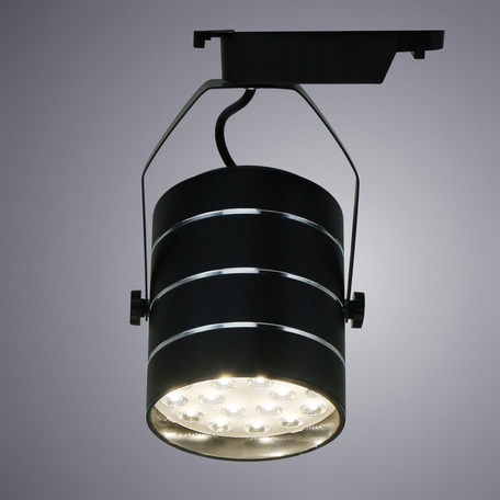 Светодиодный светильник с регулировкой направления света для шинной системы Arte Lamp Instyle Cinto A2718PL-1BK, LED 18W 4000K 1260lm CRI≥70, черный, металл