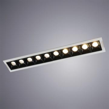 Встраиваемый светодиодный светильник Arte Lamp Instyle Grill A3153PL-10BK, LED 22,5W 3000K (теплый) 1350lm, белый, черный, металл