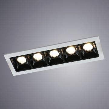 Встраиваемый светодиодный светильник Arte Lamp Instyle Grill A3153PL-5BK, LED 11,25W 3000K (теплый) 675lm, белый, черный, металл