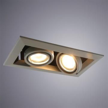 Встраиваемый светильник Arte Lamp Instyle Cardani Piccolo A5941PL-2GY, 2xGU10x50W, серый, металл
