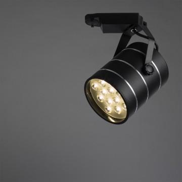 Светодиодный светильник для шинной системы Arte Lamp Instyle Cinto A2712PL-1BK, LED 12W 4000K (дневной) 840lm, черный, металл