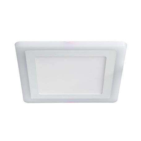 Встраиваемая светодиодная панель Arte Lamp Instyle Vega A7516PL-2WH, LED 16W 3000K + 4000K 840280lm CRI≥70, белый, металл с пластиком, пластик