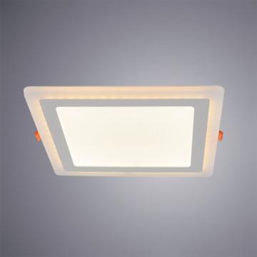 Встраиваемая светодиодная панель Arte Lamp Instyle Vega A7524PL-2WH, LED 24W 3000K + 4000K 1260420lm CRI≥70, белый, металл с пластиком, пластик