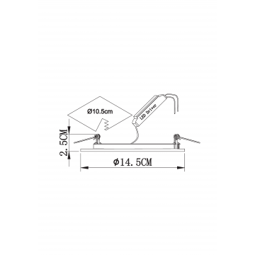 Схема с размерами Arte Lamp Instyle A7609PL-2WH