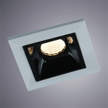 Встраиваемый светодиодный светильник Arte Lamp Instyle Grill A3153PL-1BK, 3000K (теплый), белый, черный, металл
