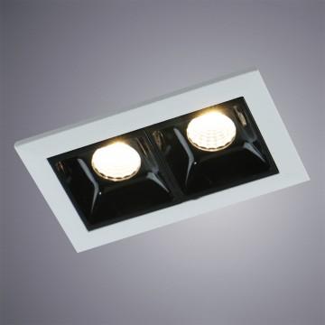 Встраиваемый светодиодный светильник Arte Lamp Instyle Grill A3153PL-2BK, LED 4,5W, 3000K (теплый), белый, черно-белый, металл