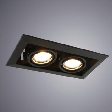 Встраиваемый светильник Arte Lamp Instyle Cardani Piccolo A5941PL-2BK, 2xGU10x50W, черный, металл
