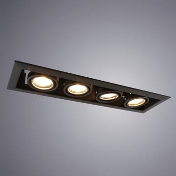 Встраиваемый светильник Arte Lamp Instyle Cardani Piccolo A5941PL-4BK, 4xGU10x50W, черный, металл