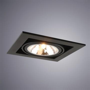 Встраиваемый светильник Arte Lamp Instyle Cardani Semplice A5949PL-1BK, 1xG9x40W, черный, металл