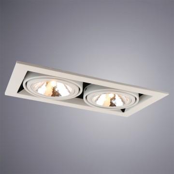 Встраиваемый светильник Arte Lamp Instyle Cardani Semplice A5949PL-2WH, 2xG9x40W, белый, черный, металл