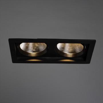 Встраиваемый светодиодный светильник Arte Lamp Instyle Privato A7007PL-2BK, LED 14W 3000K 1120lm CRI≥80, черный, металл