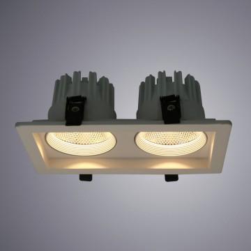 Встраиваемый светодиодный светильник Arte Lamp Instyle Privato A7007PL-2WH, LED 14W 3000K 1120lm CRI≥80, белый, металл