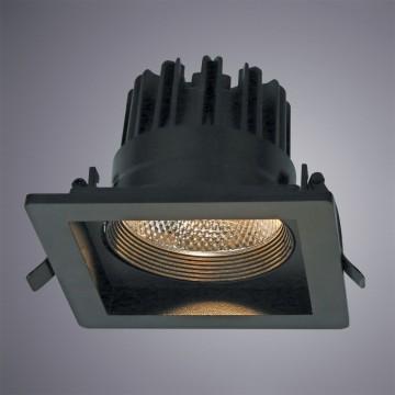 Встраиваемый светодиодный светильник Arte Lamp Instyle Privato A7018PL-1BK, 3000K (теплый), черный, металл