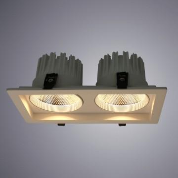 Встраиваемый светодиодный светильник Arte Lamp Instyle Privato A7018PL-2WH, LED 36W, 3000K (теплый), белый, металл