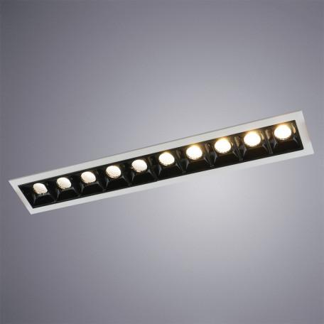 Встраиваемый светодиодный светильник Arte Lamp Instyle Grill A3153PL-10BK, LED 22,5W 3000K 1350lm CRI≥80, белый, черно-белый, металл