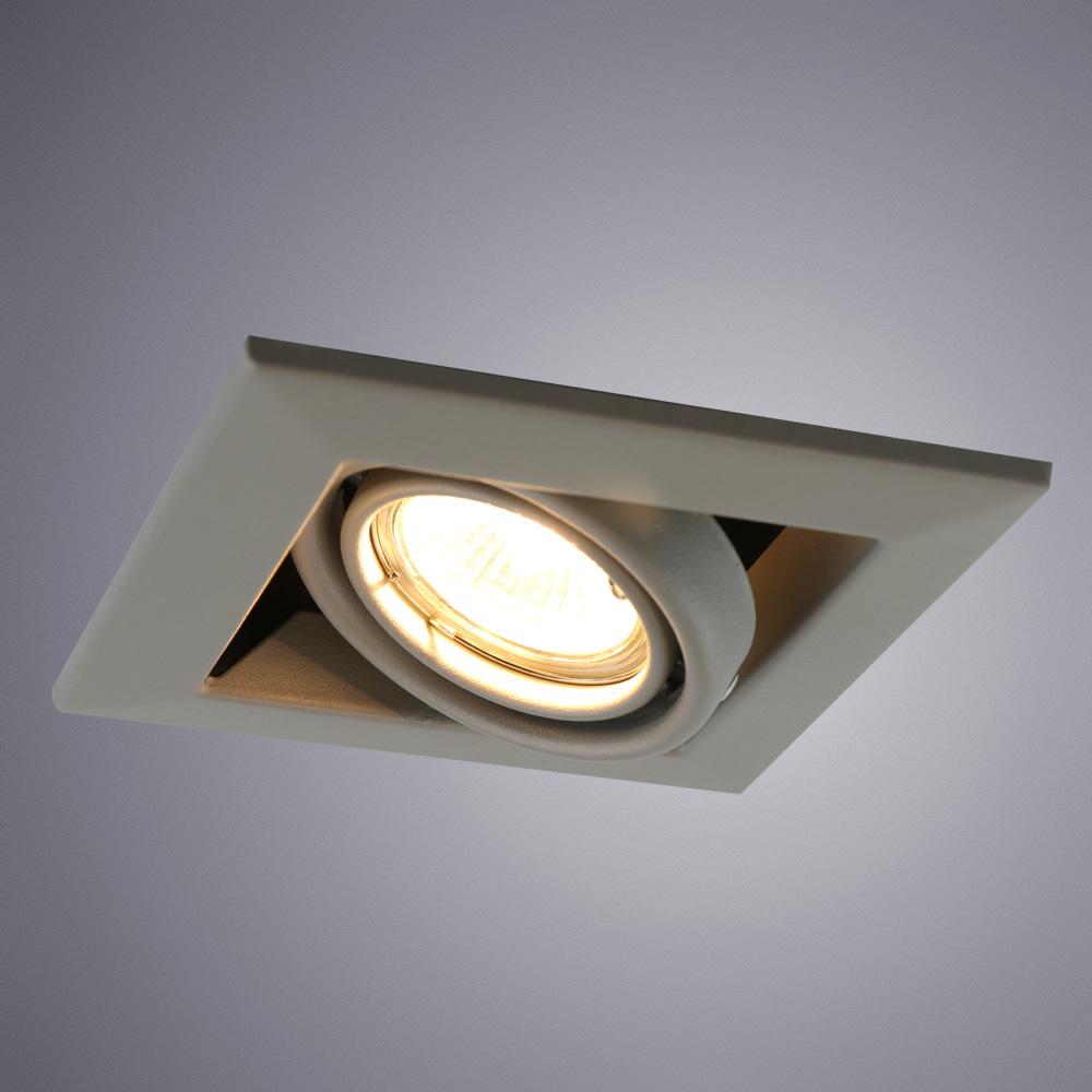 Встраиваемый светильник Arte Lamp Instyle Cardani Piccolo A5941PL-1GY, 1xGU10x50W, серый, металл - фото 1
