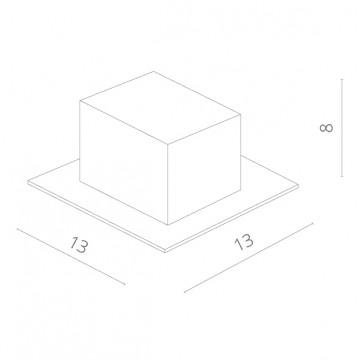 Схема с размерами Arte Lamp Instyle A5941PL-1GY