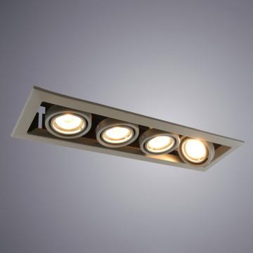 Встраиваемый светильник Arte Lamp Instyle Cardani Piccolo A5941PL-4GY, 4xGU10x50W, серый, металл