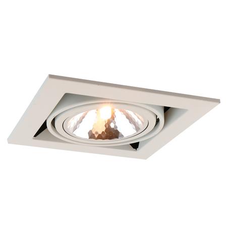 Встраиваемый светильник Arte Lamp Instyle Cardani Semplice A5949PL-1WH, 1xG9x40W, белый, металл