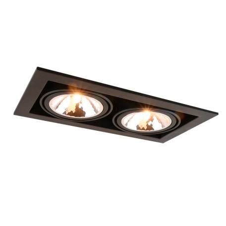 Встраиваемый светильник Arte Lamp Instyle Cardani Semplice A5949PL-2BK, 2xG9x40W, черный, металл