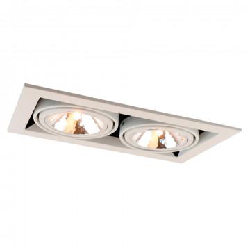 Встраиваемый светильник Arte Lamp Instyle Cardani Semplice A5949PL-2WH, 2xG9x40W, черный, белый, металл