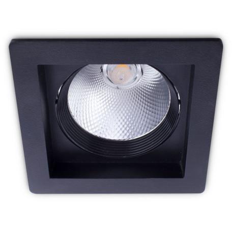 Встраиваемый светодиодный светильник Arte Lamp Instyle Privato A7007PL-1BK, LED 7W 3000K 560lm CRI≥80, черный, металл