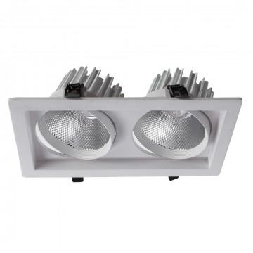 Встраиваемый светодиодный светильник Arte Lamp Instyle Privato A7018PL-2WH, LED 36W 3000K 2240lm CRI≥80, белый, металл