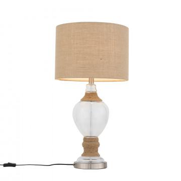 Настольная лампа ST Luce Ampolla SL971.514.01, 1xE27x60W, бежевый, прозрачный, стекло, текстиль
